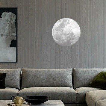 螢光月球壁貼