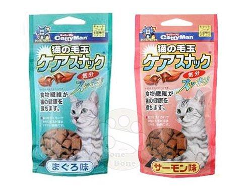日本Cattyman貓用潔牙化毛餅乾 (鮪魚/鮭魚)貓咪零食/點心35g