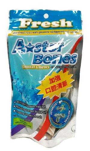 ABones 多效亮白螺旋五星 潔牙骨 -SS(袋裝)ABones 90g (3.2oz) 狗零食 狗點心 A-Star Bones