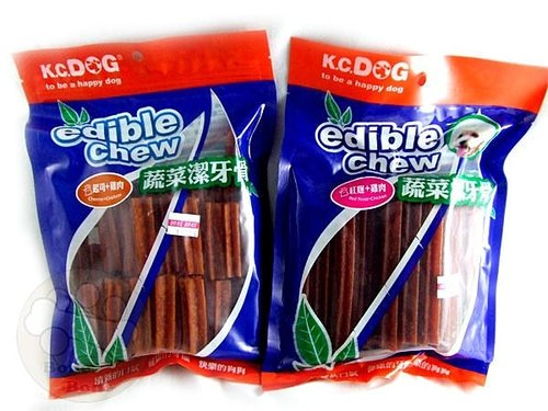 k.c.dog G31-3新品 蔬菜六角潔牙骨