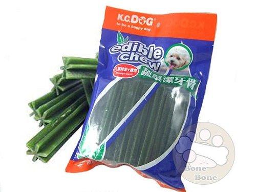 k.c.dog G31-3新品 蔬菜六角潔牙骨(加粗)~葉綠素+雞肉