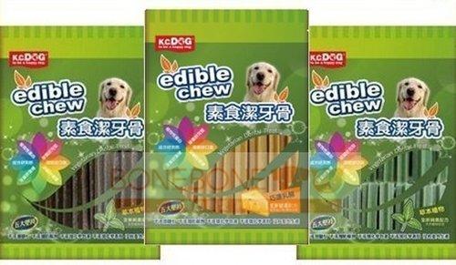 k.c.dog 素食潔牙骨犬用/寵物潔牙骨/狗用素食潔牙骨/三種口味(葉綠素)(巧達乳酪)(草本)