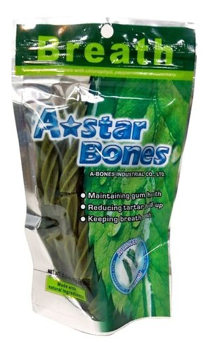 ABones 草本清新螺旋五星 潔牙骨-S(袋裝)ABones 90g (3.2oz) A BONES A-Star Bones 狗零食 狗點心