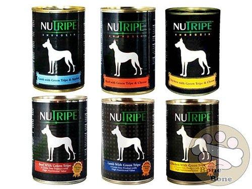 NUTRIPE紐萃寶390G狗罐頭(原味/嫩雞/燉牛肉/燉羊肉/焗烤/羊肉蘋果)-多種口味