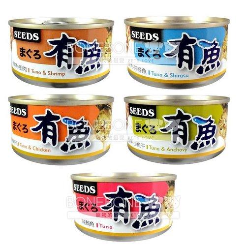 有魚貓餐罐 大罐 (鮪魚+雞肉/鮪魚+吻仔魚/鮪魚+小魚干/鮪魚+蝦肉/純鮪魚) 170g