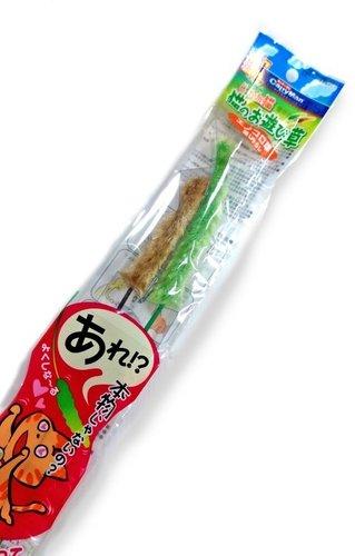 日本Cattyman 蘆葦造型逗貓棒/雙色 (2支1包) /貓玩具 逗貓棒