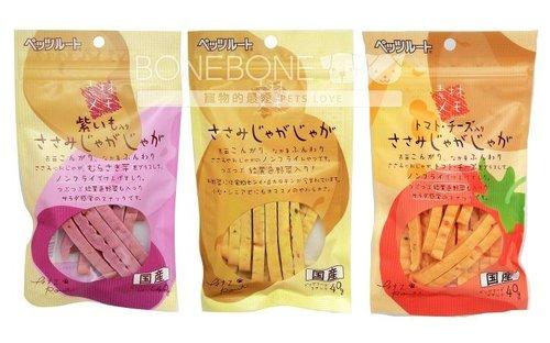 日本 Petz Route 沛滋露 犬用 馬鈴薯/紫甘藷/番茄起司雞胸肉條 狗點心零食