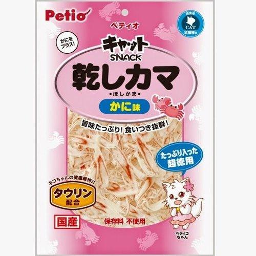 PETIO-蟹肉絲/干貝絲貓咪零食/120G/日本製貓用蟹肉絲