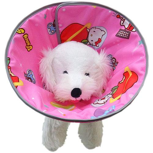 凱蒂貓~Fancy Pets X Hello Kitty 防護頸套 狗用 頸圍 防抓咬 (太空風-KT) 伊莉莎白 頭套
