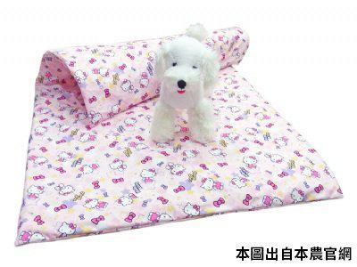 凱蒂貓~Fancy Pets X Hello Kitty 防水透氣被 貓用 狗用 寢具 (KITTY-灰/粉)