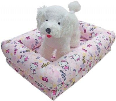 凱蒂貓~Fancy Pets X Hello Kitty拆洗式寵物睡床 貓 狗用 寢具 KITTY-L 粉紅/灰