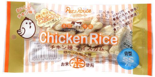 Petz Route 沛滋露 雞肉味米皮骨7入-骨型SS/1包/適合小型/超小型犬用 狗零食