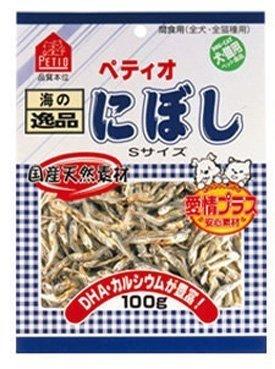 PETIO 日本原產 犬貓零食小魚干/沙丁魚/適口性佳/貓零食/100G