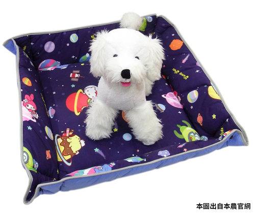 凱蒂貓~Fancy Pets X Hello Kitty 百變造型寵物睡墊 貓狗睡床 L(太空風-MIX)