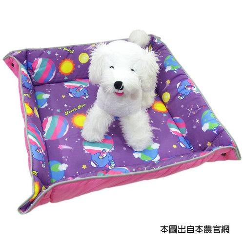 凱蒂貓~Fancy Pets X Hello Kitty 百變造型寵物睡墊 貓 狗 睡床 L(太空風-TX)
