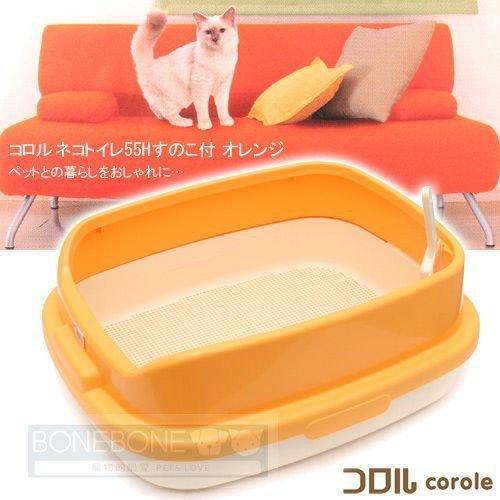 日本Richell利其爾 卡羅雙層貓便盆 貓砂盆(附貓砂鏟)雙層加高