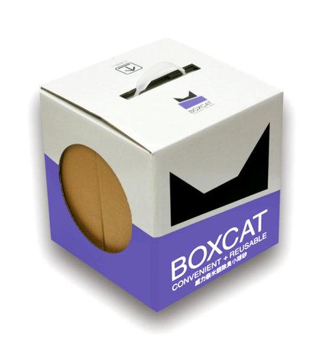 國際貓家 BOXCAT紫標 威力除臭 奈米銀粒子 抗菌除臭 小球貓砂 12L 貓砂 國際