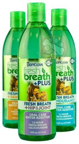 美國Fresh breath 鮮呼吸-寵物潔牙水(美膚/髖關節/消化)/預防口臭/33.8OZ(1000ml)