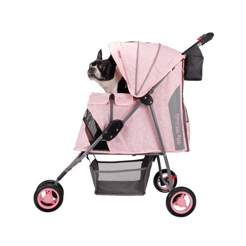 ibiyaya依比呀呀/My Melody 寵物三輪車FS1101S-ME/寵物推車/寵物外出/犬貓推車