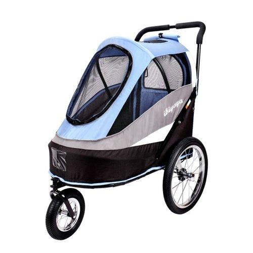 ibiyaya依比呀呀/二代兩用寵物推/拖車(充氣胎)/FS980-B/寵物推車/寵物外出/犬貓推車