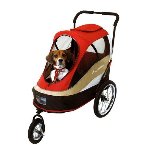 ibiyaya依比呀呀/二代兩用寵物推/拖車(充氣胎)/FS980-R/寵物推車/寵物外出/犬貓推車