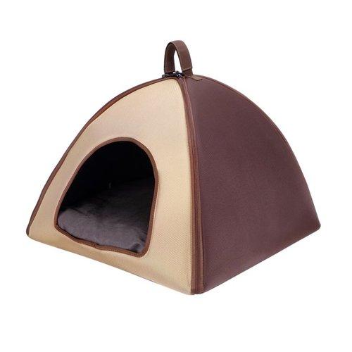 ibiyaya依比呀呀/加大版寵物三角窩FB1206-BR/寵物睡窩/寵物睡床/犬貓睡墊