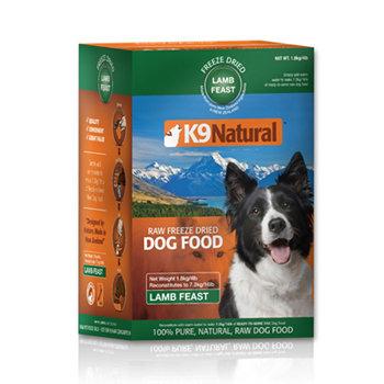 紐西蘭 K9 Natural 狗生食餐 (冷凍乾燥) 羊肉3.6kg 挑嘴過敏狗鮮肉生食飼料