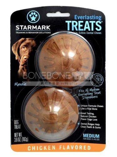 美國星記StarMark 磨牙餅 雞肉口味 M號 搭配玩具的潔牙抗憂鬱點心