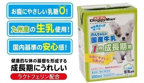 日本 Doggy Man 犬用國產牛乳1歲前成長期/寵物專用牛乳/狗狗鮮奶/不含乳糖 200ml