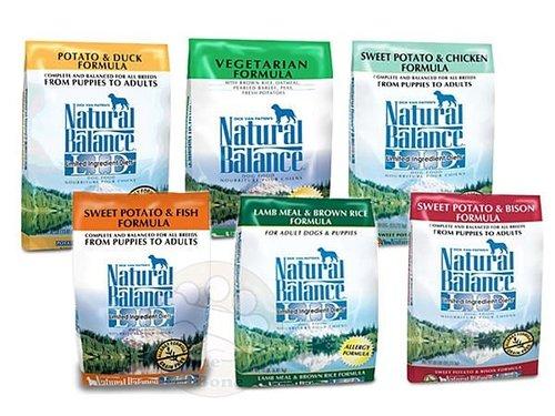 Natural Balance NB無穀地瓜鮭魚/雞肉/羊肉/鹿肉/鴨肉/低卡/素食/4.5磅~5磅左右