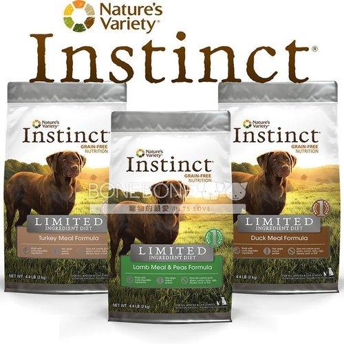 Instinct本能【無穀低致敏單一】 (羊肉/火雞肉/鴨肉) 全犬狗乾糧飼料 4.4磅