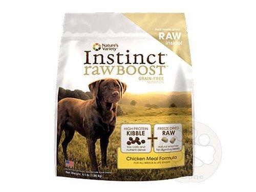 美國 Nature's Variety instinct本能雞肉生食無穀全犬配方/狗狗飼料4.1LB
