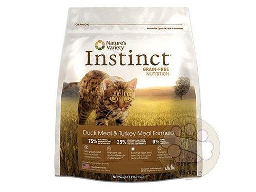 美國 Nature s Variety instinct本能 鴨肉無穀全貓配方/貓咪飼料5.5LB