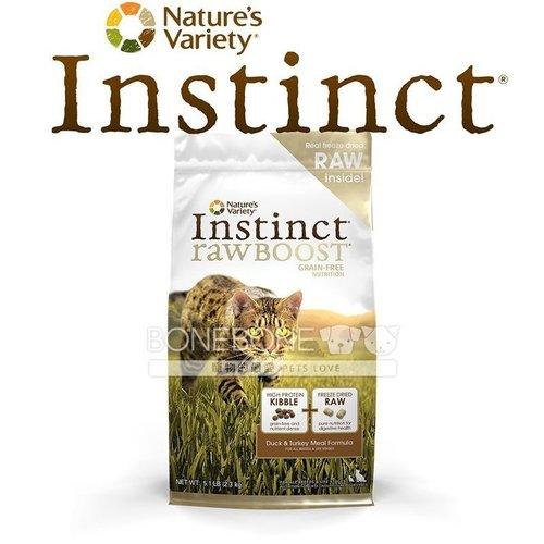 Instinct本能【生食天然糧系列】 鴨肉 全貓乾糧飼料 11.3磅 5.1kg