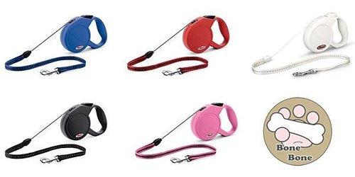 Flexi (飛來希) 多功能伸縮寵物牽繩(狗拉繩)自動牽繩(一年保固有德國製原廠標)(索狀)M號