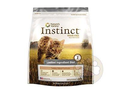 美國Nature's Variety instinct本能低敏火雞肉無穀全貓配方/貓咪飼料/5.5LB