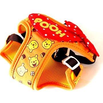 日本PET PARADISE授權正品 [小熊維尼] 小型犬用 胸背鞍帶 3S