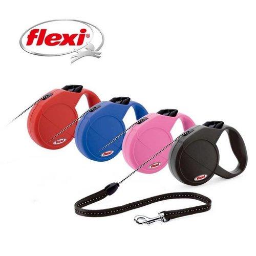 Flexi 飛萊希 多功能伸縮寵物牽繩狗拉繩自動牽繩 經典帶狀S號 (紅粉紅黑藍) 適用12kg長度5m