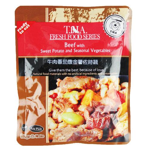 T.N.A. 悠遊餐包 牛肉燉番茄金薯佐時蔬 150g 寵物餐包 寵物點心