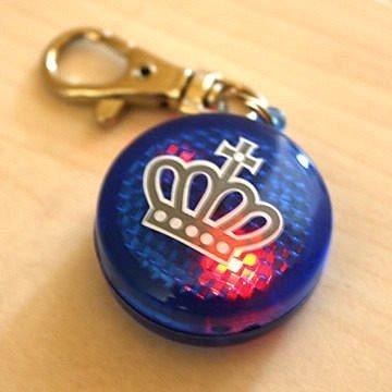 日本Pet Paradise授權正品 [Field Glide]皇冠BLUE款外出散步用LED燈(紅光)