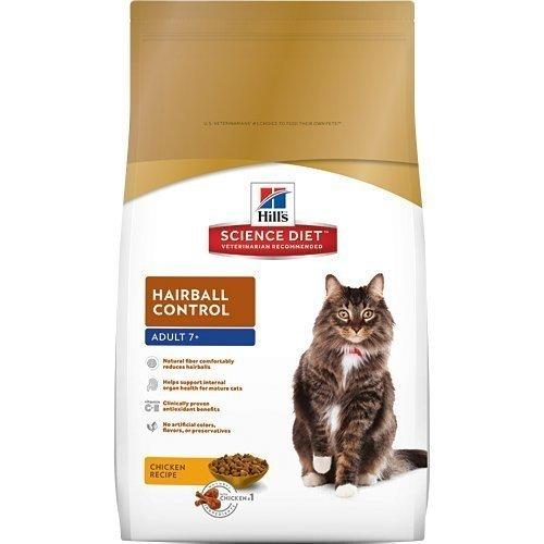 2016新包裝~希爾思Hill's 熟齡貓(7歲以上) 化毛專用配方10KG 附發票正規貨源