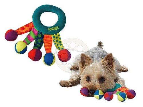美國Petstages 繽紛互動系列- 小丑呼拉圈/狗狗玩具/寵物玩具/啃咬健齒