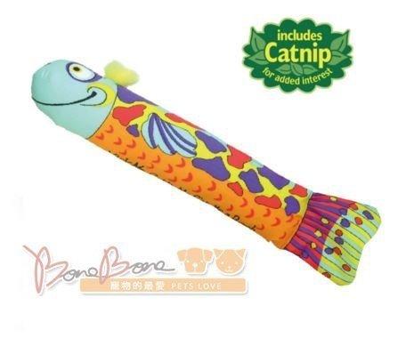 美國Petstages 748魚戲角力棒 寵物智遊貓咪玩具 貓草玩具 紓緩壓力安定情緒
