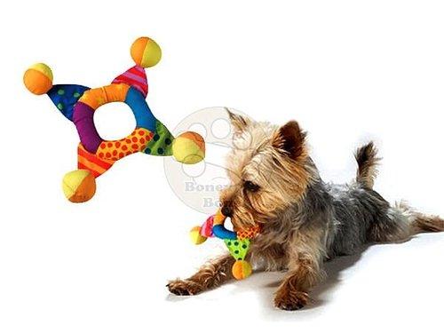 美國Petstages迷你彩虹十字環/狗狗玩具/寵物玩具/啃咬健齒