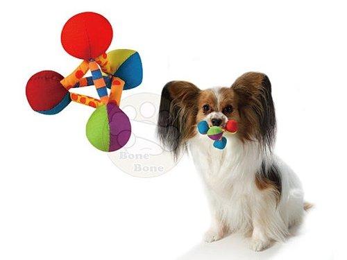 美國Petstages 繽紛互動系列- 迷你彩虹金字塔/狗狗玩具/寵物玩具/啃咬健齒