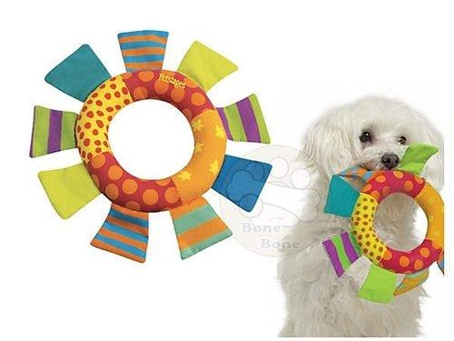 美國Petstages 繽紛互動系列- 迷你彩虹拋接環/狗狗玩具/寵物玩具/啃咬健齒