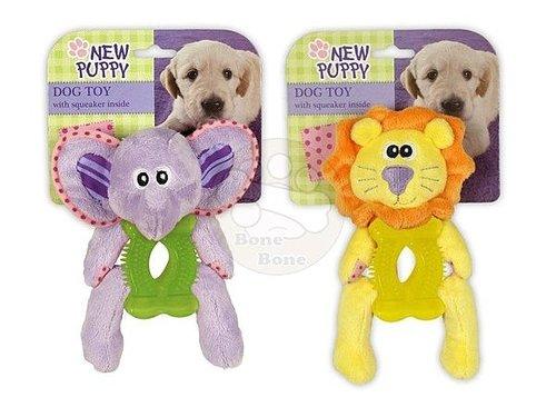 afp 幼犬玩具-橡膠身體動物造型玩具/寵物玩具/狗狗玩具/啾啾聲/大象/獅子