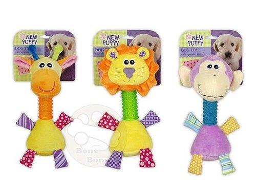 afp 幼犬玩具-長脖子動物造型玩具/寵物玩具/狗狗玩具/啾啾聲/長頸鹿/獅子/猴子