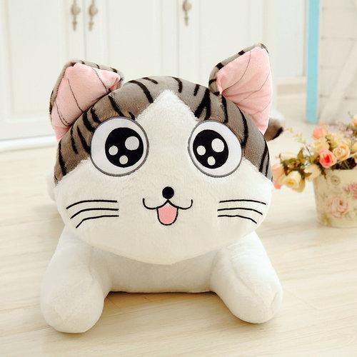 條紋貓咪抱枕