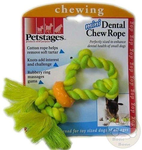 美國Petstages迷你健齒繩環 / 耐咬繩/啃咬健齒系列/狗狗玩具/啃咬玩具
